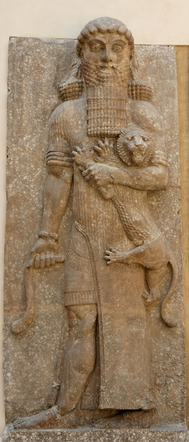 The tyrannical and intrepid legendary ruler Gilgamesh in the Louvre, Paris