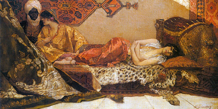 The Odalisque, Wikimedia Commons [An odalisque is a female slave of concubine in a harem.]