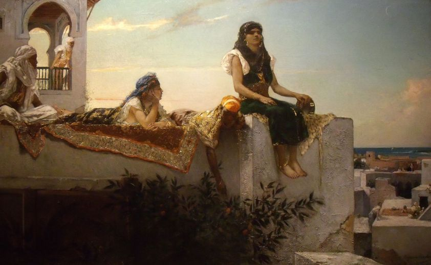 Evening on the Terrace (Morocco), Wikimedia Commons