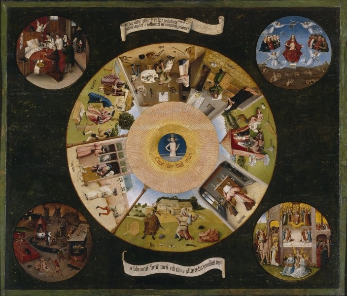 7 Deadly Sins and the 4 Last Things (Hieronymous Bosch)