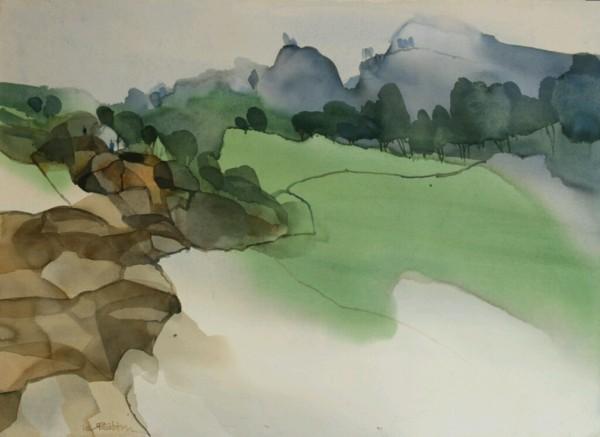 Greens Vanishing to the Horizon of Himalayas by Prashant Prabhu. Used with permission.