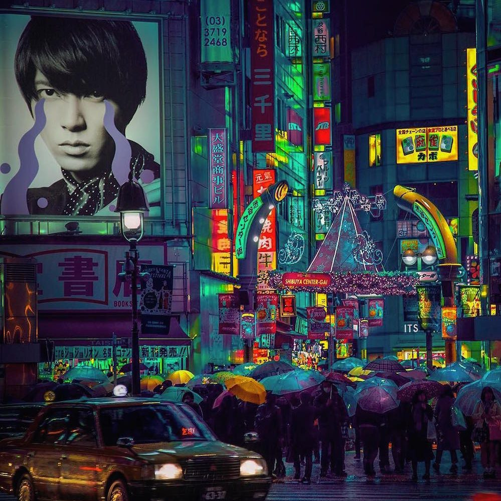 TO:KY:OO: Stunning Neon Views Of The City By Liam Wong