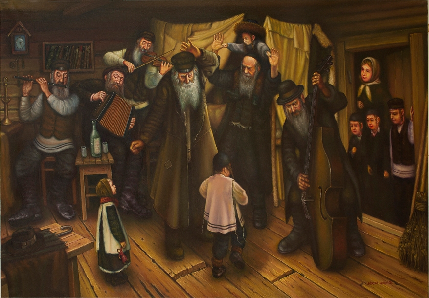 Paintings On Judaica By Eduard Gurevich From The European