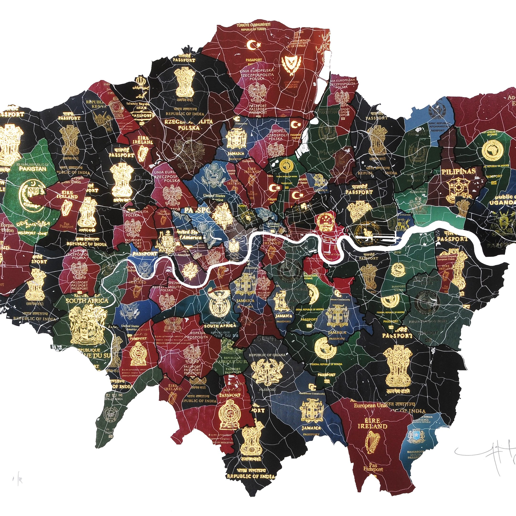 History, Immigration and Shifting Borders: Passport Maps by Yanko Tihov