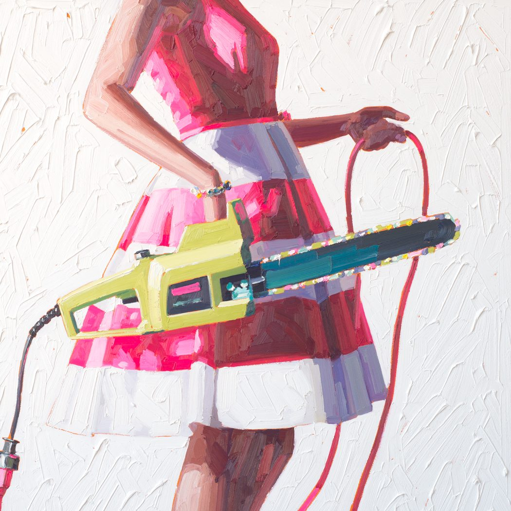 Designer Dresses Plus Chainsaws: Kelly Reemtsen Depicts the Modern-Day Woman