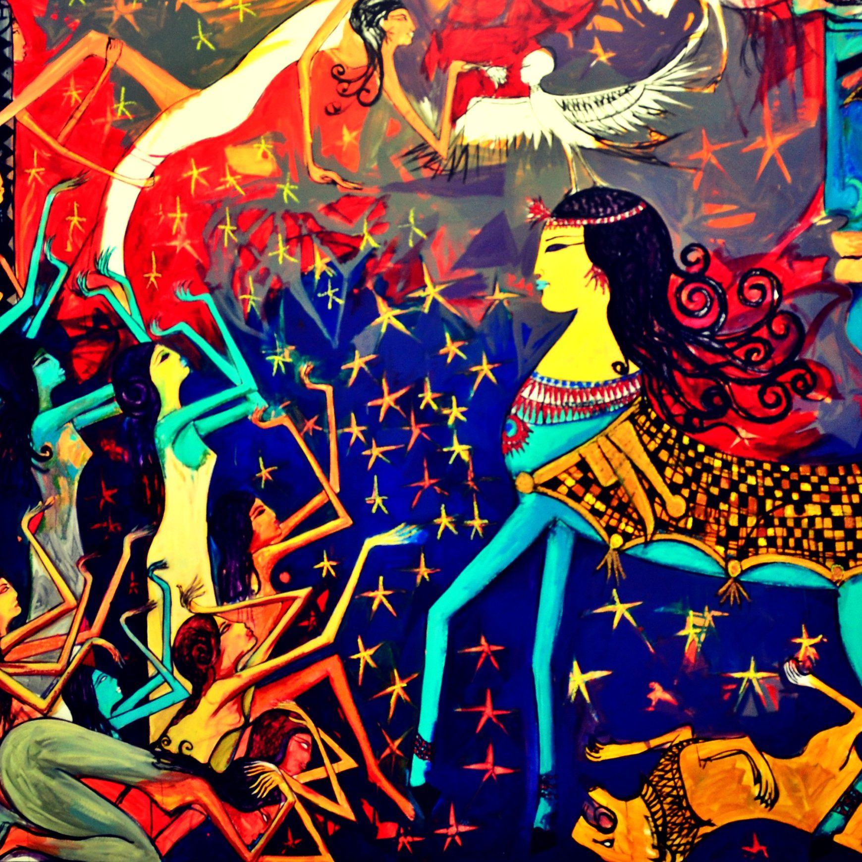 Heritage Conversing with Contemporary Society: Alaa Awad's Stunning Neo-Pharaonic Murals and Paintings