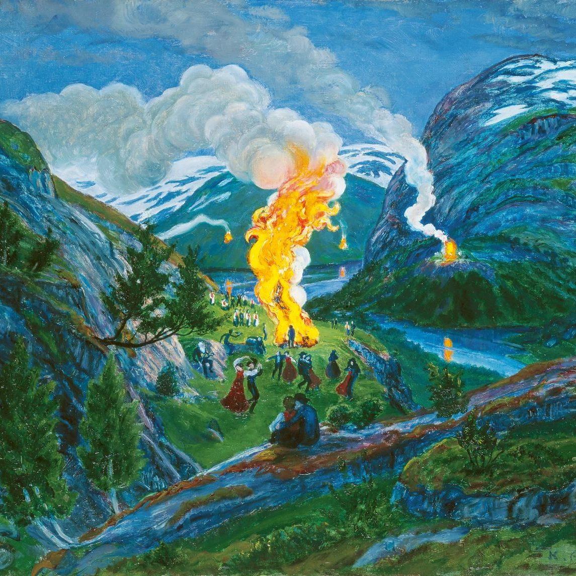 """Vestlandet"" by Nikolai Astrup (1880-1928): From the KODE Art Museums of Bergen, Norway"